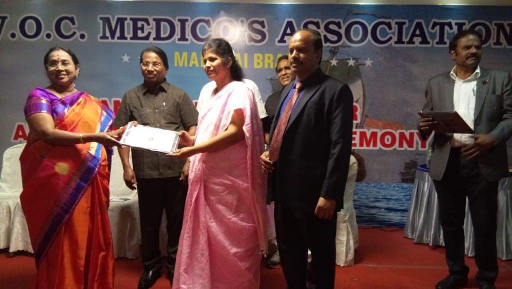 Best women award By VOC Medicos Association